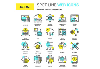 20 Yellow and Cyan Computing Icons 1