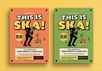 Ska Music Concert Flyer Layout