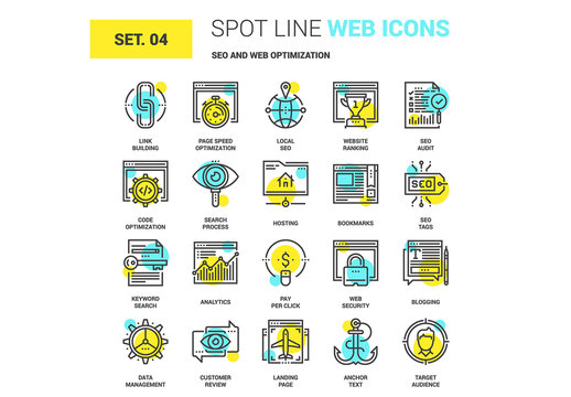 20 Yellow and Cyan Web Icons 1