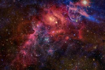 Mgławica i gwiazdy w przestrzeni kosmicznej. Elementy tego obrazu dostarczone przez NASA.
