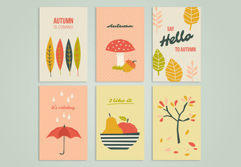 Autumn Greeting Card Set