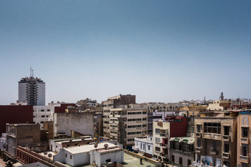 Wall Murals Cappuccino high angle view of buildings in casablanca - Morocco