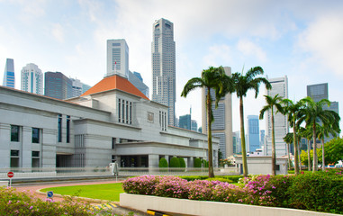 Parliament building of Singapore