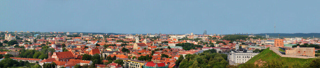 Wall Murals Prague Panorama of Vilnius, Lithuania. View from the Hill of Three Crosses