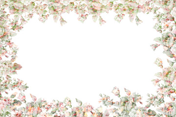 Festive, beautiful floral frame