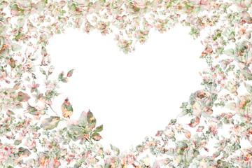 Festive vintage card floral heart