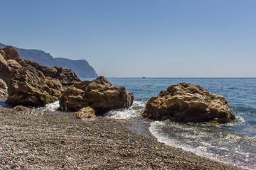 Mountains, the sea