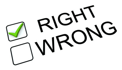 Right And Wrong Tick