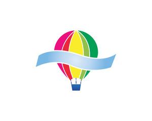 air balloon logo template