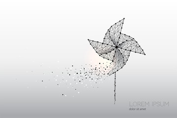Abstract vector motion of windmill.