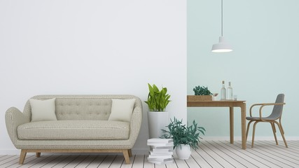 3d rendering interior living space room and empty