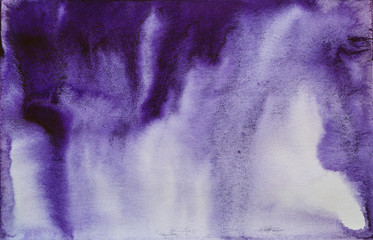 Indigo Watercolor Abstraction
