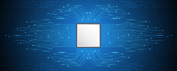 Vector abstract background technology CPU concept.