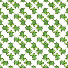 sea turtle cartoon pattern