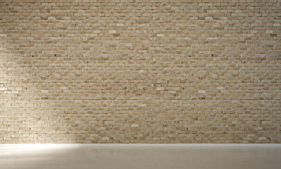 The Interior Design Of Empty Living Room And Brick Wall Texture Background