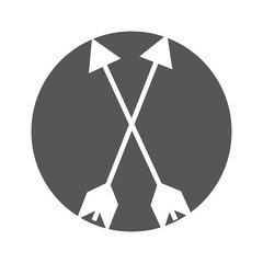 indian arrow isolated icon vector illustration design
