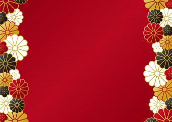 菊の和柄フレーム