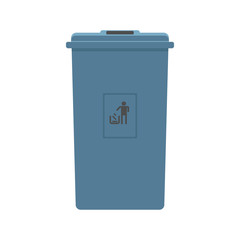 Recycling bins isolated