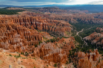 panoramic view of Bryce Canyon in the morning from Inspiration Point Bryce Canyon National Park, Utah, United States
