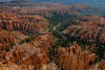 looking down Bryce Canyon from Upper Inspiration Point Bryce Canyon National Park, Utah, United States