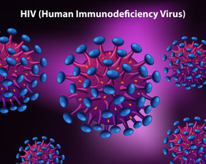 Diagrame showing human immunodeficiency virus