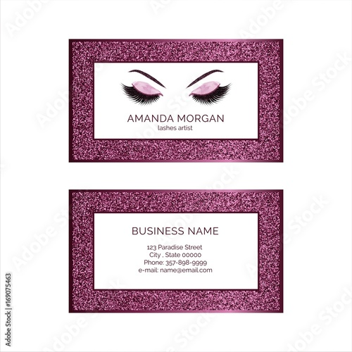 Makeup artist business card template stock image and royalty free makeup artist business card template cheaphphosting Images