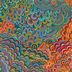 Colorful psychedelic background, hippie era, eps10 vector
