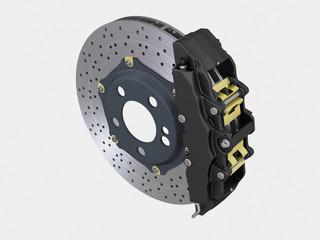 Bremsanlage Fahrzeug 3D Rendering