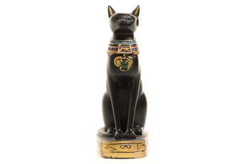 Cat statuette isolation