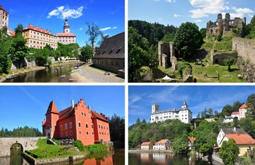 The best of south bohemia – photo of Cesky Krumlov castle, Divci kamen ruins, Cervena Lhota castle, Rozmberk nad Vltavou