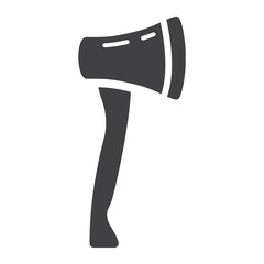 Axe glyph icon, build and repair, tool sign vector graphics, a solid pattern on a white background, eps 10.