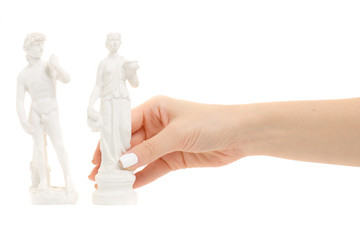 Statuettes of a man and a woman