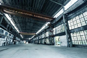 interior of abandoned workshop