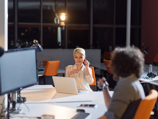 designers in the night startup office