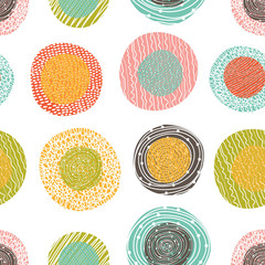 Cute pola dot. Seamless pattern.