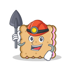 Miner biscuit character cartoon style