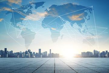 Smart city and wifi wireless internet .communication network .