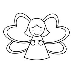 female angel icon image vector illustration design