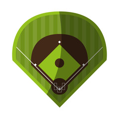 field baseball related icon image vector illustration design