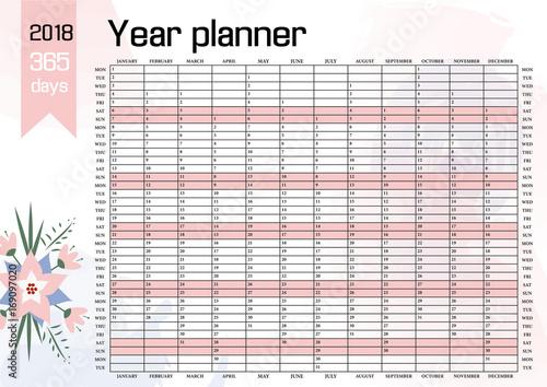 free 2018 year planner