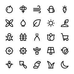 Nature and Ecology Line Icons 2