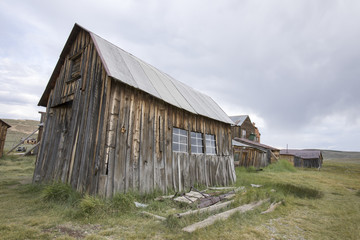Wooden barn in field, Bodie, California