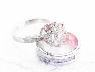 Wedding ring with a diamond