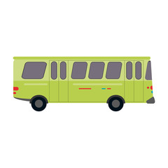bus public transport icon image vector illustration design