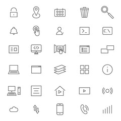 User Interface Line Icons