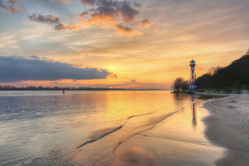 Leuchtturm Wittenbergen an der Elbe