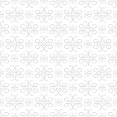 Vintage gray ornament. Floral seamless pattern