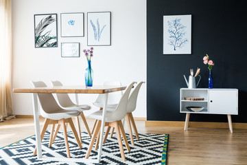 Scandi style apartment interior