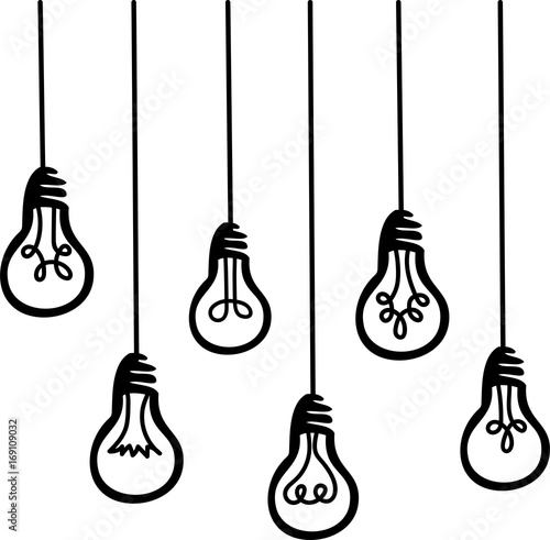 light bulbs hanging vector graphic icon symbol stock image and rh fotolia com  royalty free vector graphics for commercial use