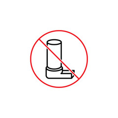 no inhaler sign on white background